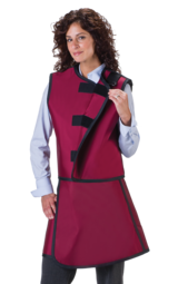 Woman's Lead X-Ray Apron and vest front view