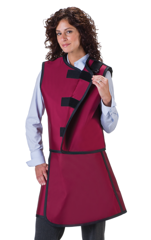 Women's Lead Free X-Ray Apron and X-Ray Vest with Thyroid Collar