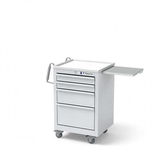 4-Drawer Economy Short (ESGKU-3369-LTG-SmWheels)-Waterloo Healthcare