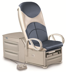 Brewer 6801 High-Low Exam Table 700 lbs with Power Back with outlet, pelvic tilt & front drawer warmer