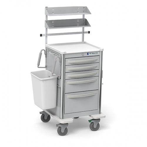 5-Drawer Junior Medium  Suture Cart (JMGKA-33369-LTG)With Optional Accessories-Waterloo Healthcare