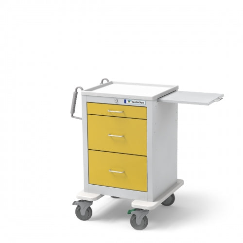 3-Drawer Junior Short Isolation Cart (JSGKU-399-YEL)-Waterloo Healthcare
