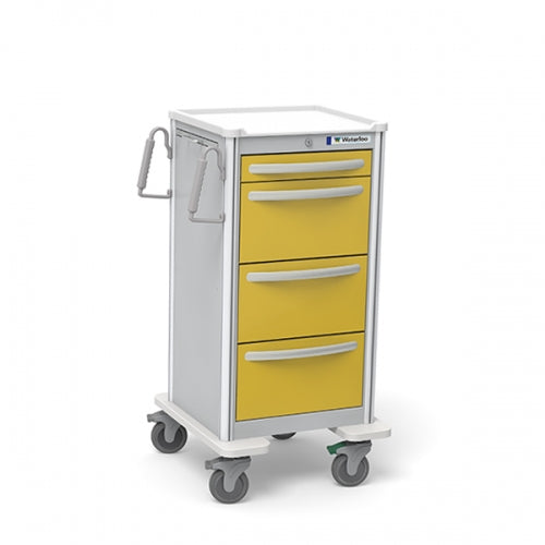 4-Drawer Junior X-Tall Isolation Cart (JXGKA-3999-YEL)-Waterloo Healthcare