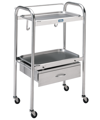 P-1100-SS Anesthetist Table with Drawer