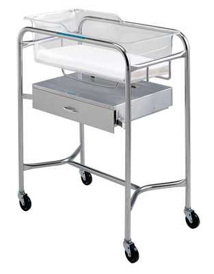 P-1110-B-SS Bassinet Stand with Drawer