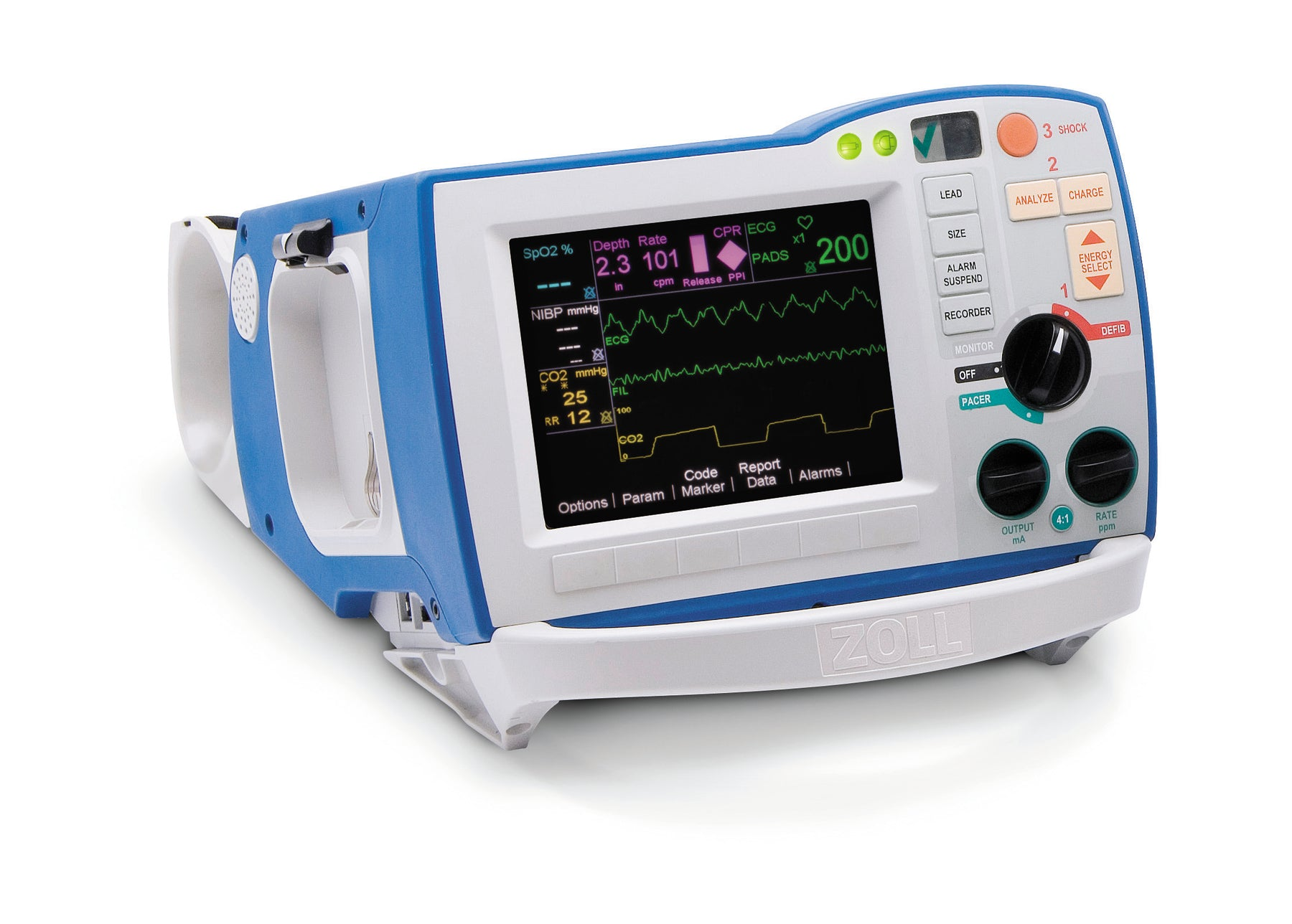 R Series ALS Defibrillator with Expansion Pack and OneStep Pacing-30120000001110012