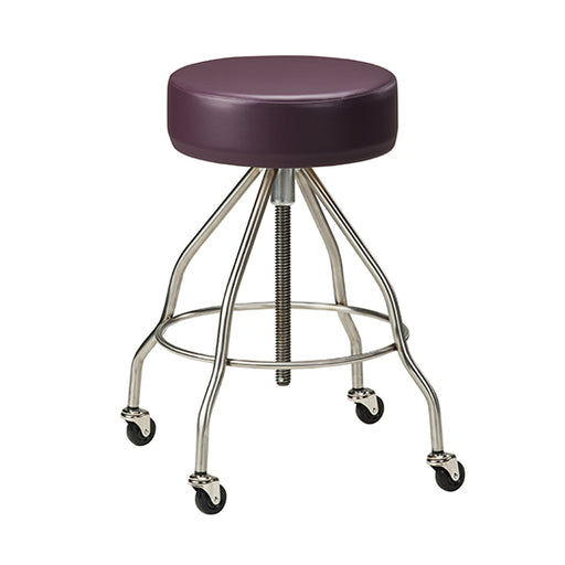 SS-2172 *Stainless Steel Stool with Casters