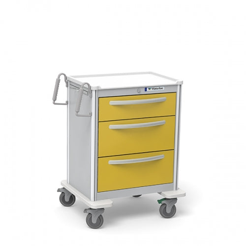 3-Drawer Medium Isolation Cart(UMGKA-699-YEL)-Waterloo Healthcare