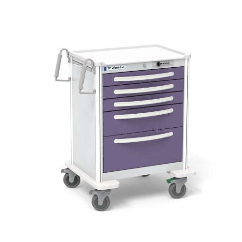 5-Drawer Medium Anesthesia Cart (UMGSA-33369-VIL)-Waterloo Healthcare