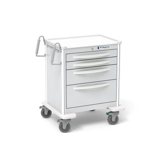 4-Drawer Short Anesthesia Cart (USGKA-3369-LTG)-Waterloo Healthcare