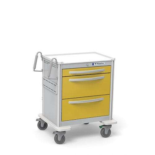 3-Drawer Short Isolation Cart(USGKA-399-YEL)-Waterloo Healthcare