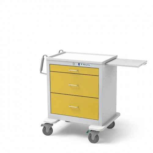 3-Drawer Short Isolation Cart (USGKU-399-YEL)-Waterloo Healthcare