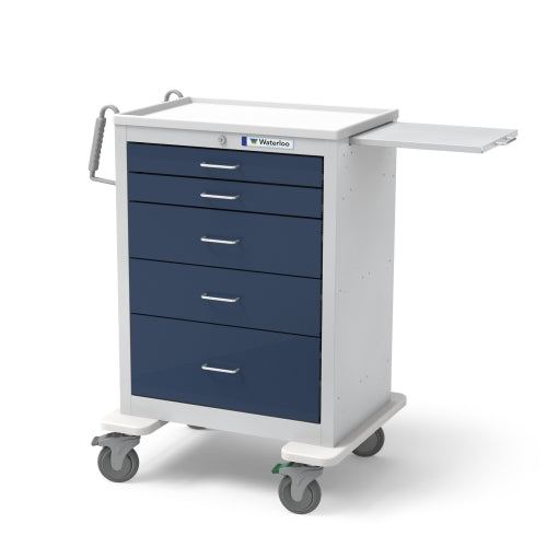 5-Drawer Tall Anesthesia Cart (UTGKU-33669-DKB)-Waterloo Healthcare