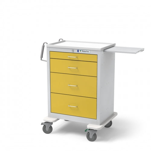 4-Drawer Tall Isolation Cart (UTGKU-3699-YEL)-Waterloo Healthcare