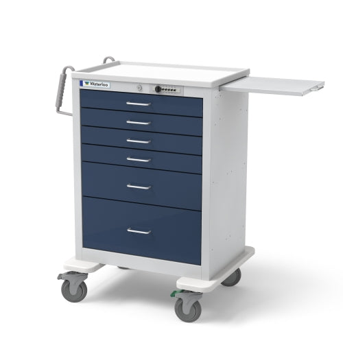 6-Drawer Tall Anesthesia Cart (UTGSU-333369-DKB)-Waterloo Healthcare