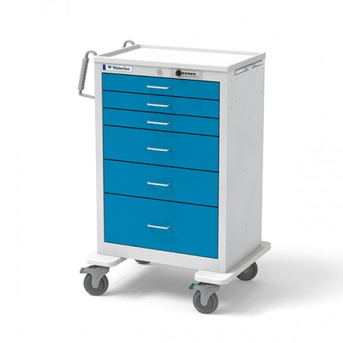 6-Drawer X-Tall Anesthesia Cart (UXGSU-333669-ELB)-Waterloo Healthcare