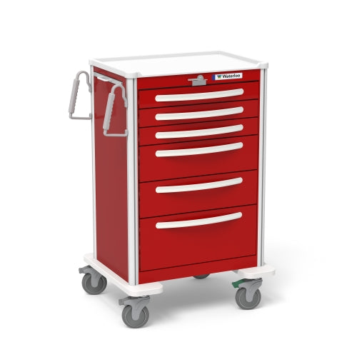 6-Drawer X-Tall Emergency Cart UXRLA-333669-RED-Waterloo Healthcare