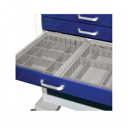 "2.5"" Deep Configurable Gray Plastic Divider Tray (WDC-2025)-Waterloo Healthcare"