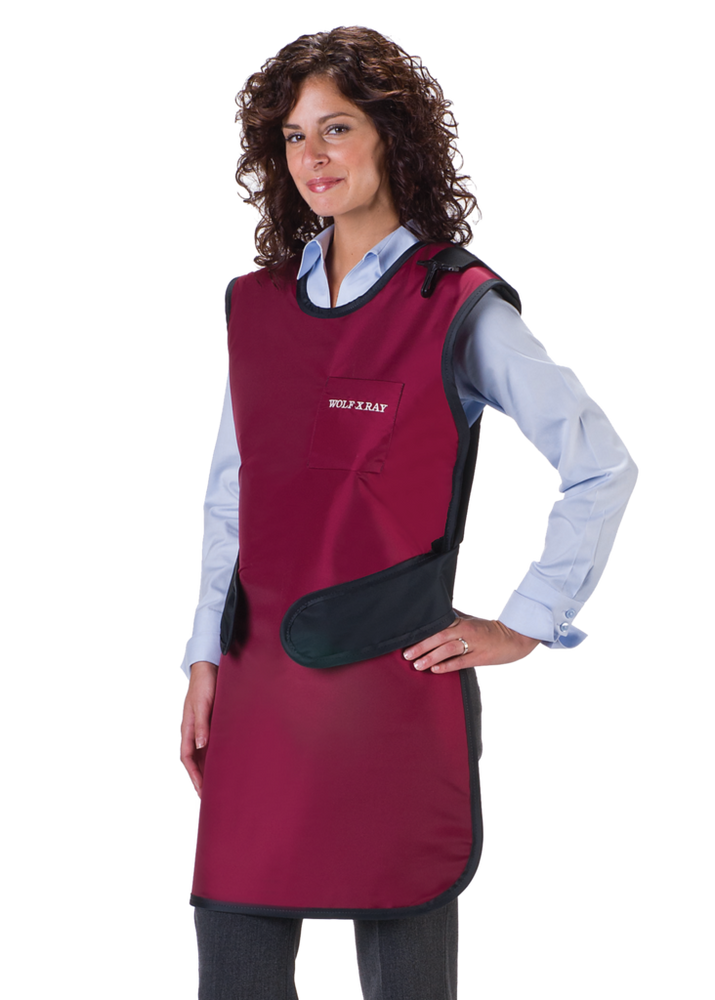 Easy Wrap Lead Free X-Ray Apron with Thyroid Collar-Wolf X-ray