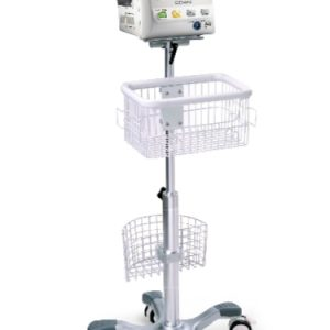 Center Pole Trolley (Roll stand) with Basket and Locking Casters