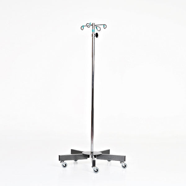 Chrome 5-leg IV Pole-MidCentral Medical