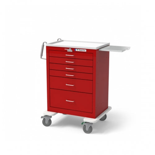 6-Drawer Tall Emergency Cart (UTRLU-333369-RED)-Waterloo Healthcare