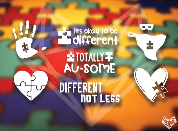 AUTISM DECALS 5IN - BRILLIANT BLUE OPTION AVAILABLE