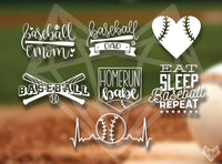 BASEBALL DECALS 5-6IN