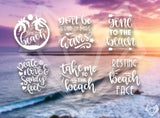 BEACH DECALS 5IN