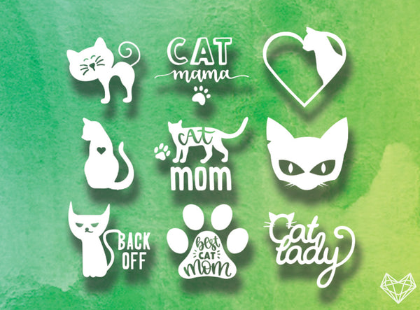 CAT LOVER DECALS 5IN