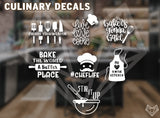 CULINARY DECALS 5-6in