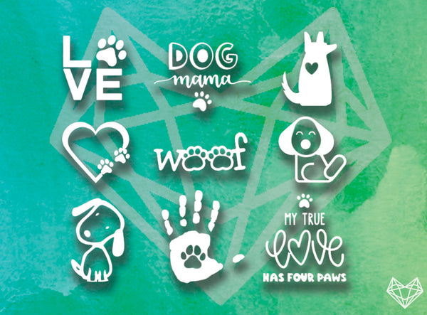 DOG LOVER DECALS 4-5IN