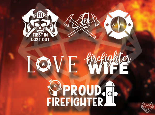 FIREFIGHTER DECALS 5IN