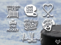 HOCKEY DECALS 5-6IN