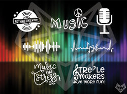 MUSIC DECALS 5IN