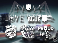 POLICE DECALS 5-6IN