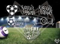 SOCCER DECALS 5-6IN