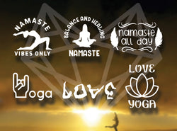 YOGA DECALS 5IN