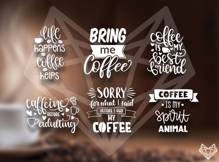COFFEE LOVER DECALS 5IN