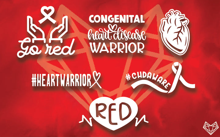 HEART DISEASE DECALS 5IN