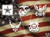 MILITARY DECALS 5IN