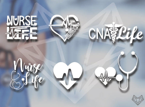NURSE DECALS 5IN