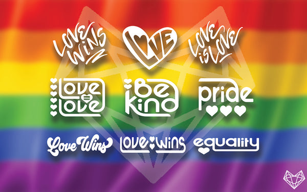 PRIDE DECALS 5-6IN