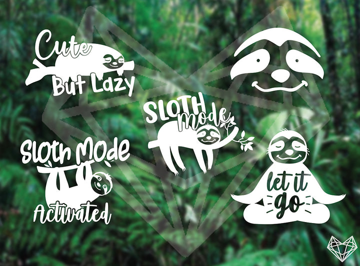 SLOTH DECALS 5IN