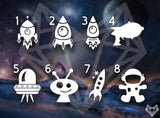 OUTER SPACE DECALS 4IN