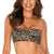 Top strapless leopardo