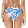 Bottom Estampado Azul Tiro Medio
