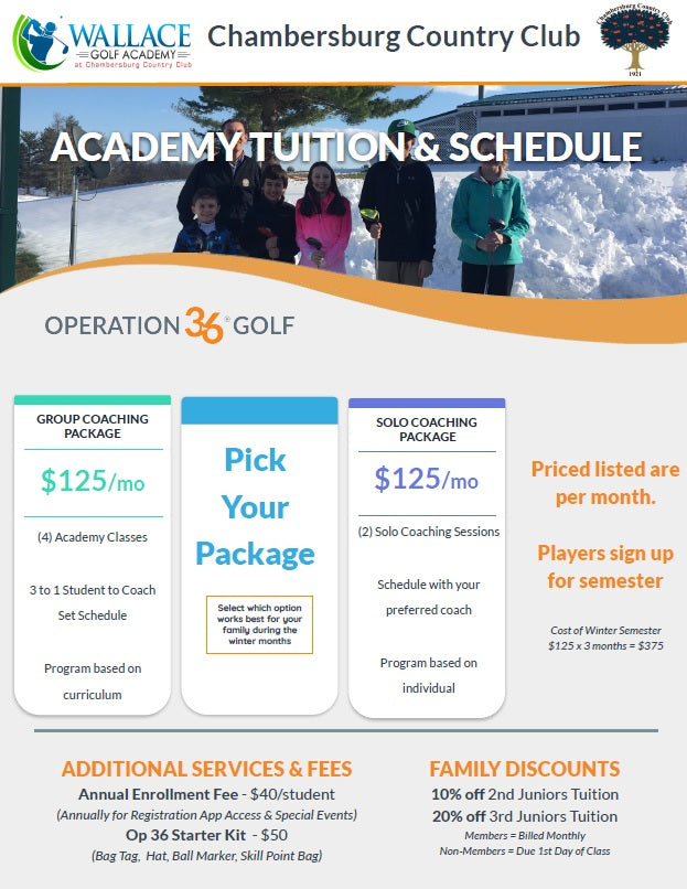 Golf Academy Player Package Deegan Benedick