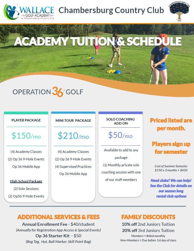 Golf Academy Player Package Hutlin