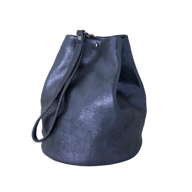 WHITE WASH BUCKET BAG
